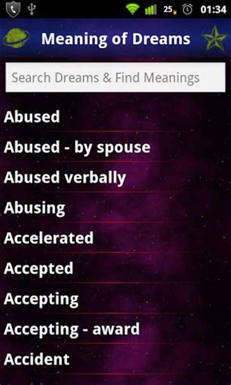 meanings of dreams dictionary v1 2 apk what does my discover and interpret the