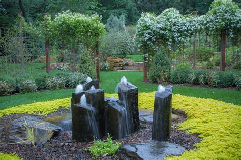landscape water features magnificent outdoor rock water fountains decorating ideas