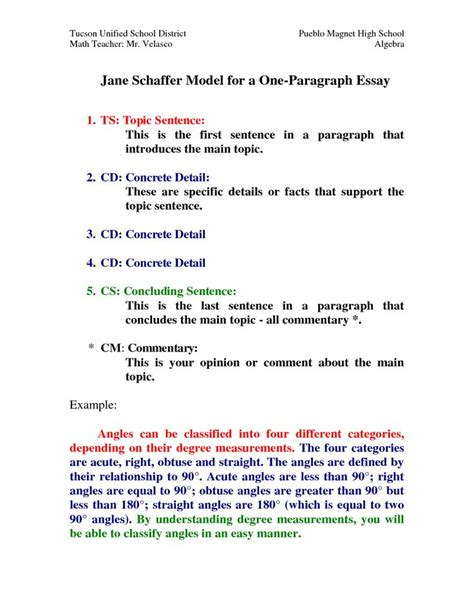 Essay Writing Method by Model For A One Paragraph Essay By Hxi76773 Homeschool Writing