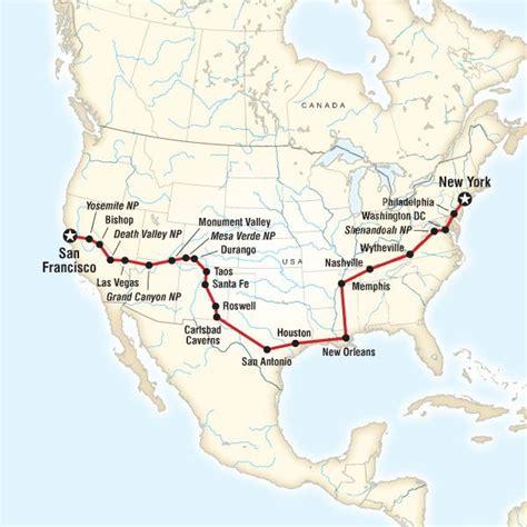 road map across us 25 best ideas about road trip across america on