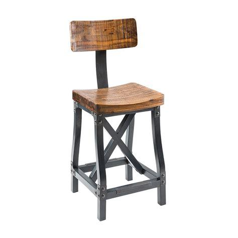 Cheyenne Furniture Bar Stools by Cheyenne Rustic Industrial Bar Stool W Optional Back