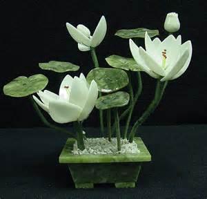 Jade Lotus Jade Lotus Flower Bonsai Tree Fd2124a