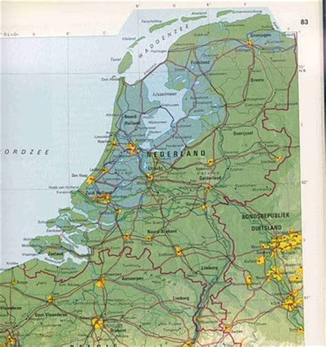 physical map of netherlands maps netherlands physical map