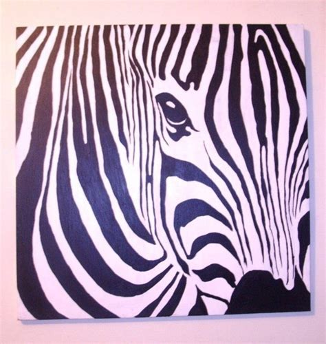 acrylic painting zebra handmade custom made zebra acrylic painting by big