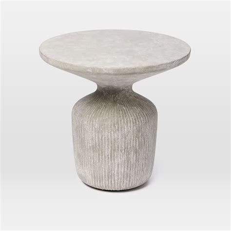 Outdoor Drum Table by Tambor Concrete Outdoor Drum Side Table West Elm