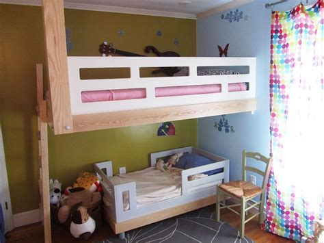 Bunk Beds Handmade - made architecural woodworking floating bunk bed by