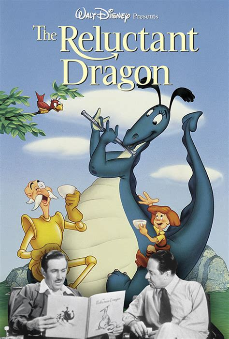 film with cartoon dragon the reluctant dragon disney movies