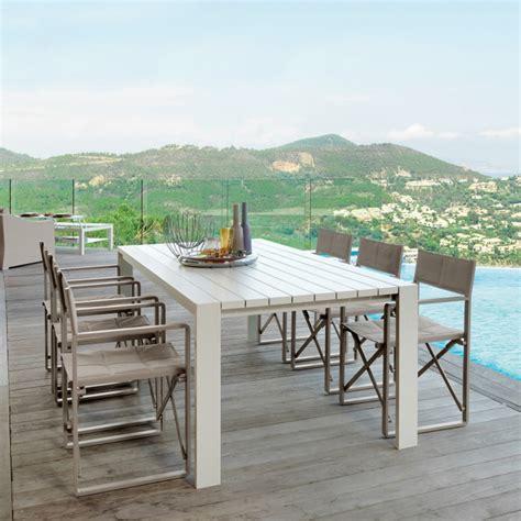 sedie e tavoli da giardino tavolo da pranzo da giardino di design bianco chic