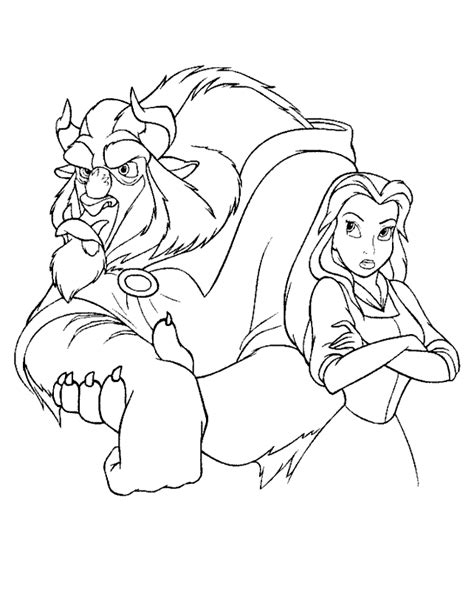 printable coloring pictures of beauty and the beast free printable beauty and the beast coloring pages for kids
