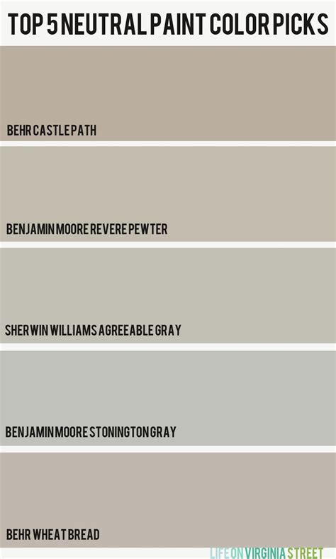 best neutral paint color picks house decorators collection