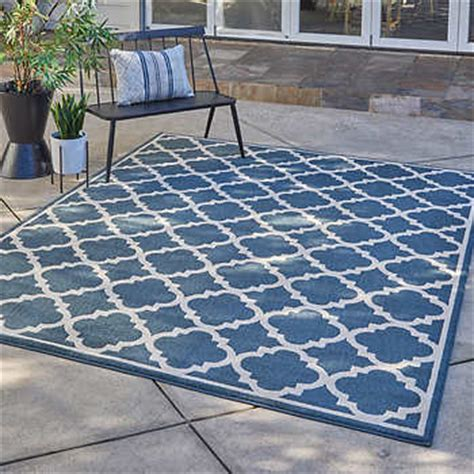 Thomasville Veranda Indoor Outdoor Rug Collection Siena Blue Outdoor Rugs Costco