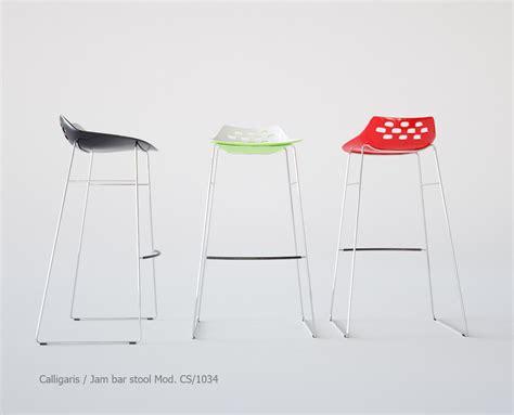 jam bar stool calligaris jam bar stool 3d model max cgtrader com