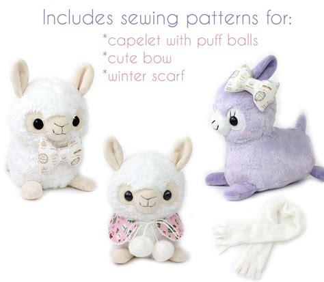 cute llama pattern sewing pattern alpaca llama stuffed animal 12