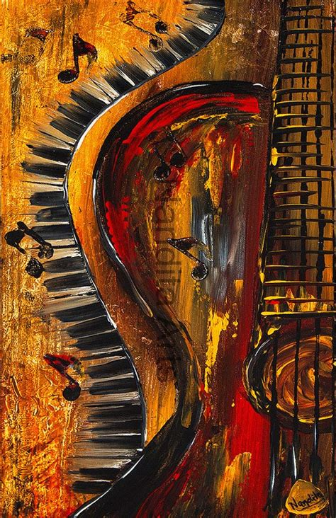 Painting 049 Sle Paper by Guitar Prints For Sale Modern And Abstract Prints