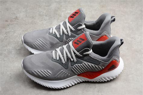 adidas alphabounce  grey red mens running