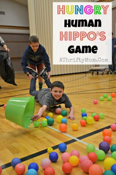 themes for group games hungry human hippos game