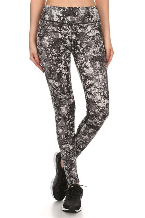marble pattern leggings four way stretch athletic leggings in marble pattern
