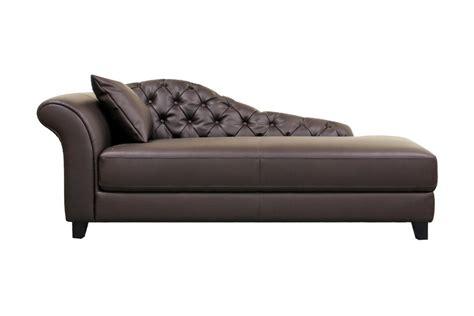brown chaise lounge baxton studio josephine brown leather modern