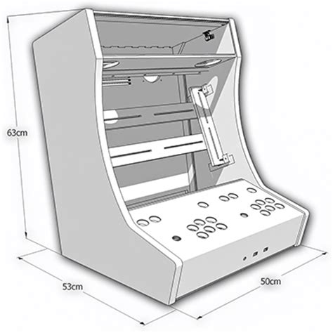 Bartop Arcade Machine Plans Kit Bartop 2 Joueurs Arcademy