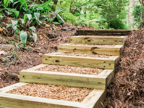 Backyard Steps by How To Build Outdoor Wood Steps How Tos Diy