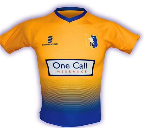 New Mansfield Town Kit 2017 18   MTFC Surridge Home Shirt