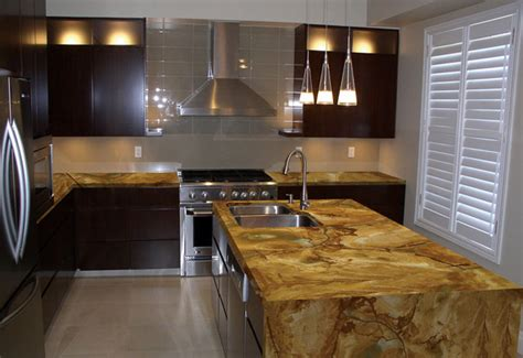 Contemporary Kitchen Countertops Sequoia Granite Modern Miami By Marble Of The World