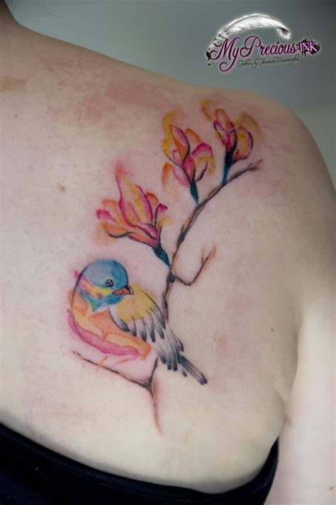29 fantastic watercolor bird tattoos