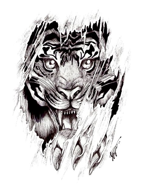 tiger scratch tattoo designs tigers 118 tiger design flash