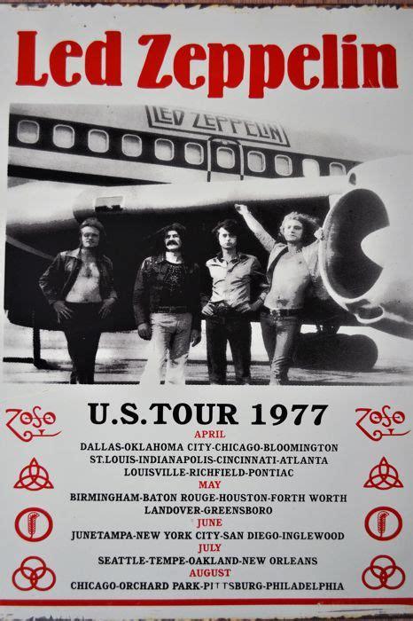 Led Zeppelin Usa Tour 1977 fantastic led zeppelin vintage large sign poster u s tour 1977 catawiki