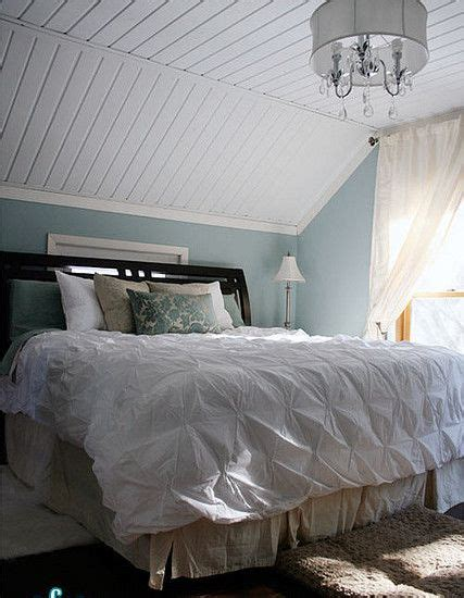 bedroom slanted ceilings like the painted slat ceilings and color of the walls time to