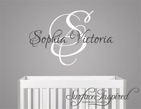 Nursery Wall Name Decals Nursery Wall Decal Custom Name Monogram Wall Decal For Boy