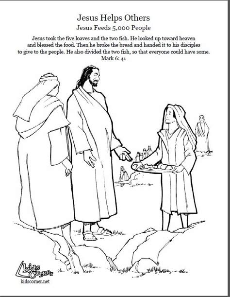 Coloring Page Feeding 5000 by 75 Best Jesus Feeds The Five Thousand Images On
