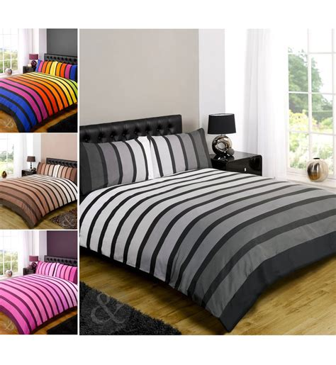 Striped Poly Cotton Duvet Cover Modern Quilt Cover Bedding Modern Bedding Sets Uk