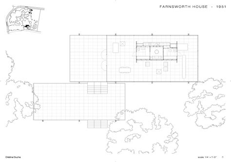 Farnsworth House Plan Floorplan Cristina Olucha