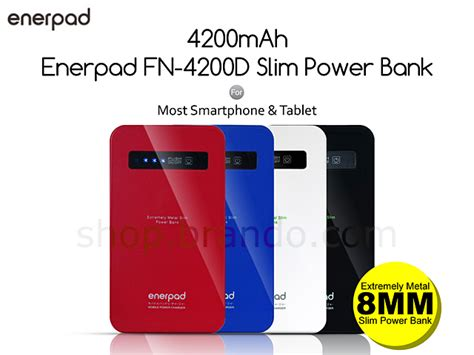 Power Bank Slim 4200 Mah enerpad fn 4200d slim power bank 4200mah