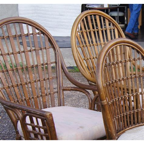 vintage bamboo rattan round dining table and chairs at vintage rattan dining table and chairs