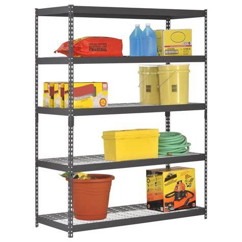 heavy duty steel shelving unit adjustable 5 tier review