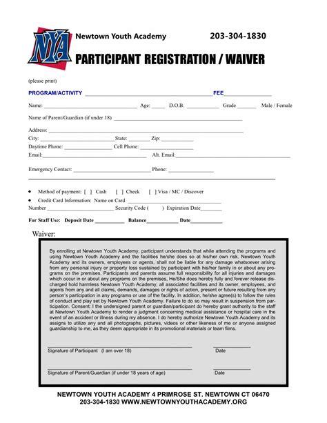 enrollment form template word registration form template 9 free