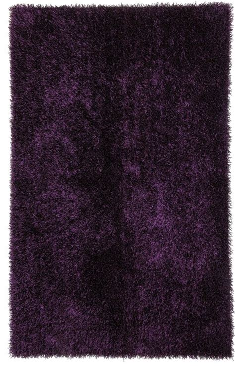 Purple Shag Area Rugs Shag Solid Pattern Polyester Purple Area Rug 2 X 3 Eclectic Rugs By Aster