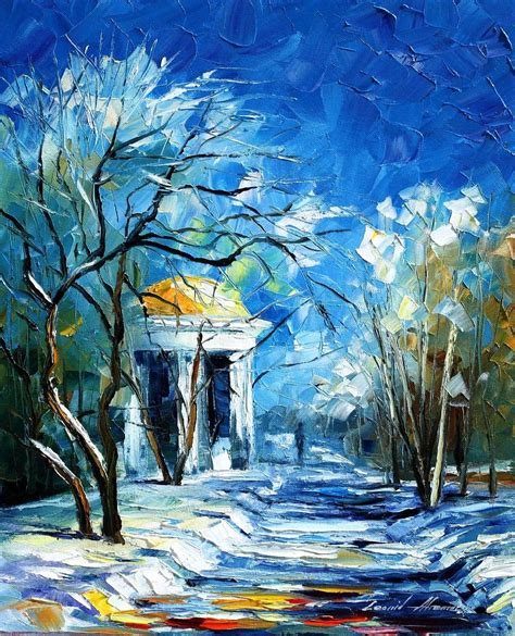 paint with a twist winter park leonid afremov on canvas palette knife buy original