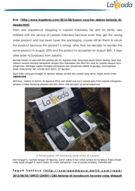 Lazada Indonesia the effect of service recovery in lazada indonesia towards