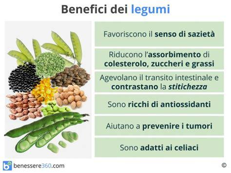 composizione nutrizionale alimenti legumi tipi propriet 224 controindicazioni calorie e