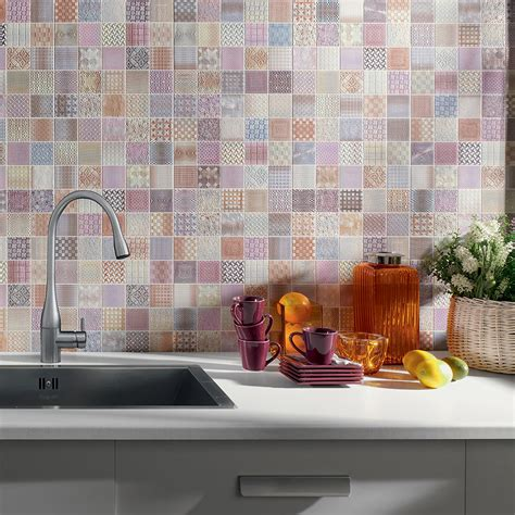 farbige wandfliesen create a summery kitchen with moroccan tiles walls and