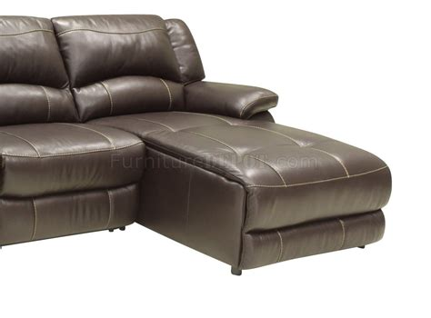 Modern Leather Reclining Sofa Mahogany Leather 4pc Modern Sectional Reclining Sofa