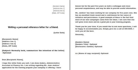 personal letter of recommendation 40 awesome personal character reference letter templates 1535