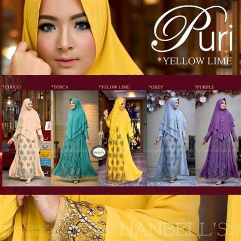 Setelan Syari Gamis Wollycrepe Khimar Gamis Pesta Umroh Busui butik muslimah original brand