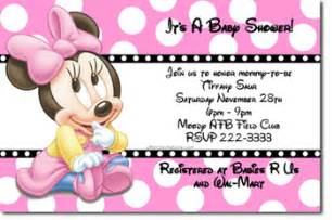 minnie mouse baby shower invitations jpg