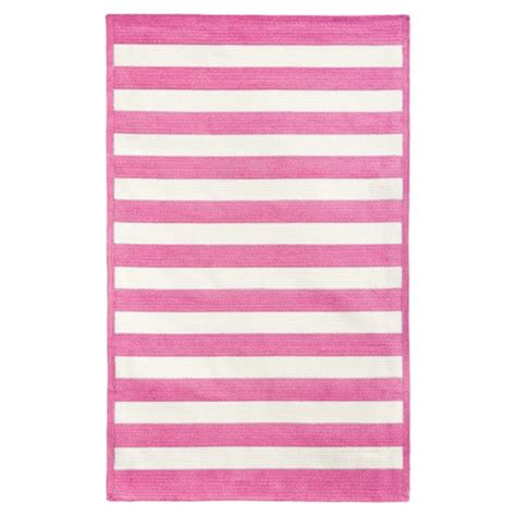 pink striped rug capel cottage stripe rug bright pink pbteen