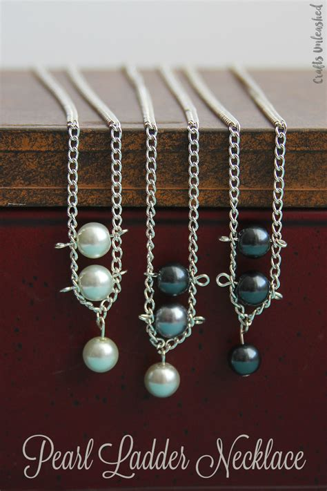 supplies needed to make jewelry pearl necklace diy tutorial with ladder design crafts