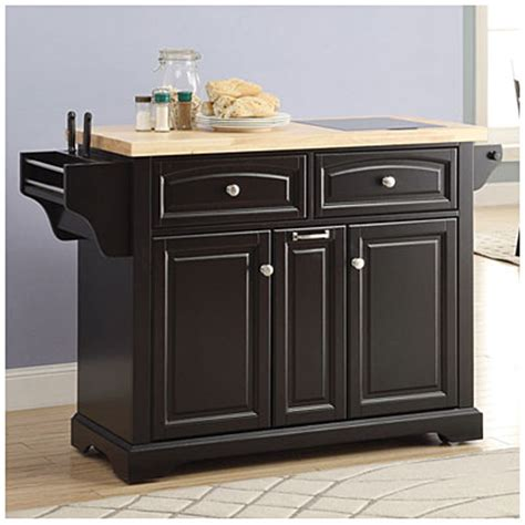 view black kitchen cart with spice rack deals at big lots